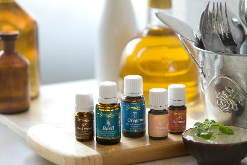 cocina con aceites esenciales