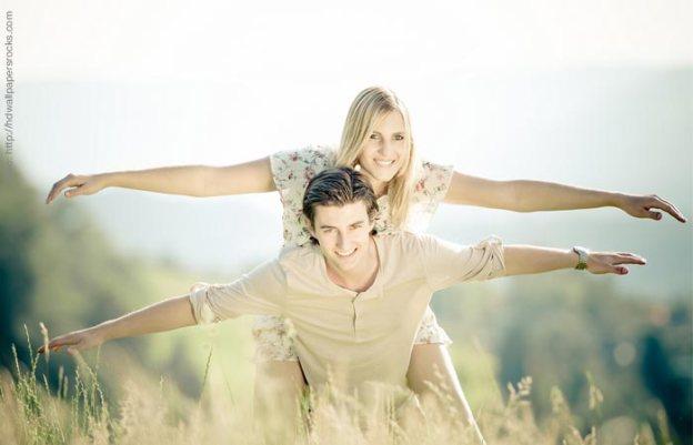 animo pareja amor hombre mujer alegria