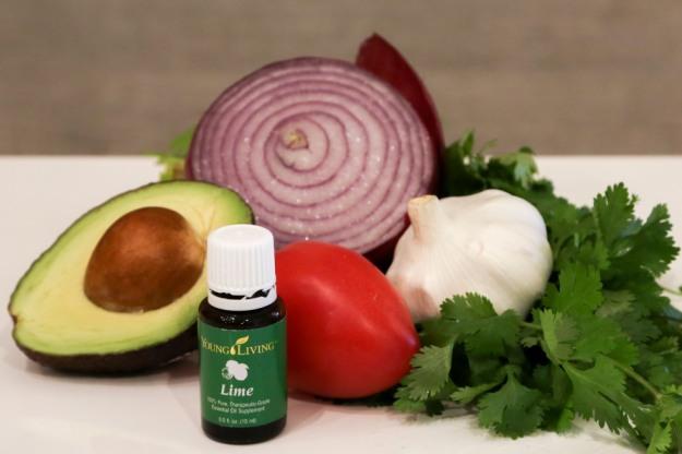 ingredientes guacamole aceite esencial lima lime