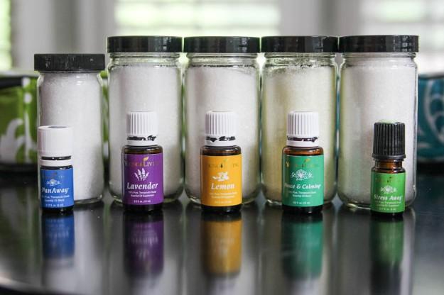 sales de baño aceites esenciales
