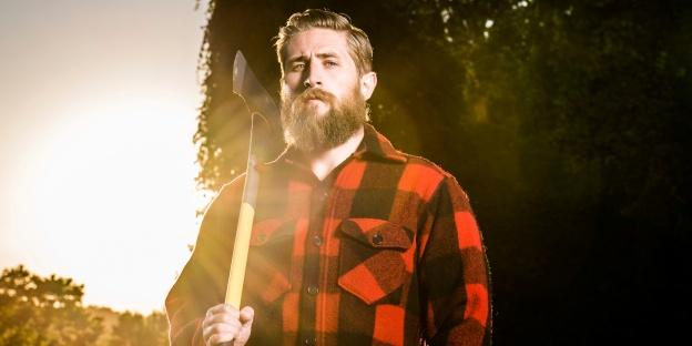 leñador barba