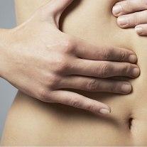higado frotar masaje estomago